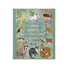 Animals Throw Blanket
