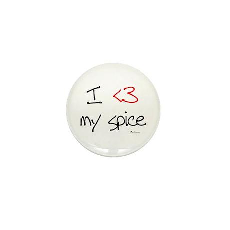 I love my spice (red heart fu Mini Button (10 pack