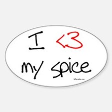 I love my spice (red heart fu Oval Decal