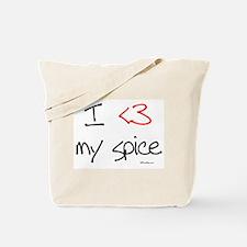 I love my spice (red heart fu Tote Bag