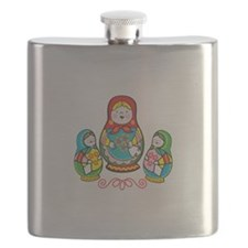 Russian Matryoshka Flask