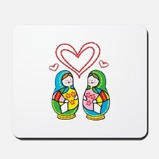 Love Nesting Dolls Mousepad