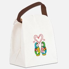Love Nesting Dolls Canvas Lunch Bag