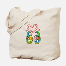 Love Nesting Dolls Tote Bag