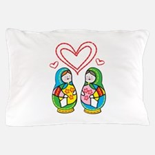 Love Nesting Dolls Pillow Case