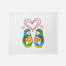 Love Nesting Dolls Throw Blanket