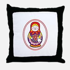 Matryoshka Oval Throw Pillow
