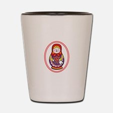 Matryoshka Oval Shot Glass