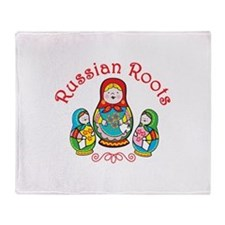 Russian Roots Throw Blanket