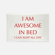 i-am-awesome-in-bed-OPT-RED Magnets