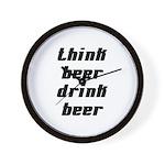 Drink Beer Think Beer Wall Clock