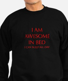 i-am-awesome-in-bed-OPT-RED Sweatshirt