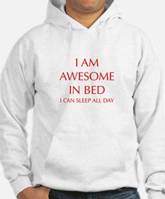 i-am-awesome-in-bed-OPT-RED Hoodie