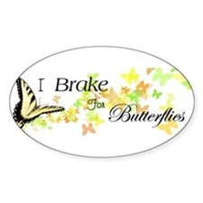 I Brake for Butterflies Decal
