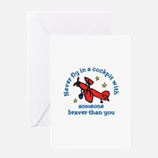 Never Fly Greeting Cards