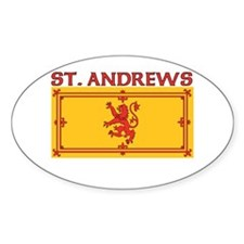 St. Andrews, Scotland Oval Decal