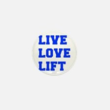 LIVE-LOVE-LIFT-FRESH-BLUE Mini Button