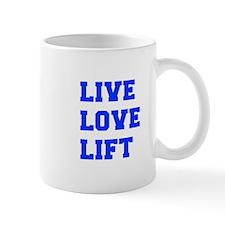 LIVE-LOVE-LIFT-FRESH-BLUE Mugs