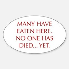 MANY-HAVE-EATEN-HERE-OPT-RED Decal