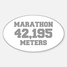 MARATHON-42195-METERS-FRESH-GRAY Decal