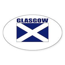 Glasgow, Scotland Oval Decal