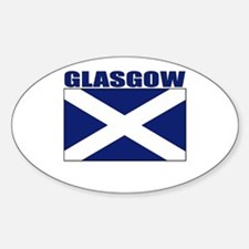 Glasgow, Scotland Oval Decal