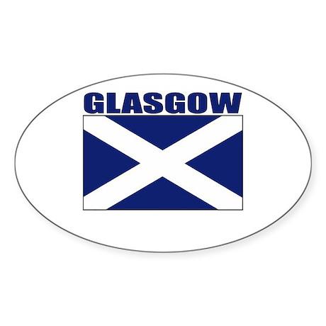 Glasgow, Scotland Oval Sticker