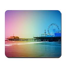 Santa Monica Pier Rainbow Mousepad