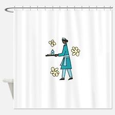 Tray Toting Nurse Shower Curtain