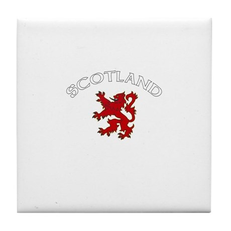 Scotland Lion (Dark) Tile Coaster