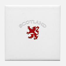Scotland Lion (Dark) Tile Coaster