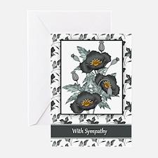 Business Sympathy Stylish Black (pk Greeting Cards
