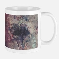 Watercolor / acrylic in purple and gray Mugs