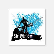 "Sir Wiggo Square Sticker 3"" x 3"""