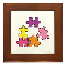 Jigsaw Pieces Framed Tile
