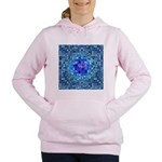 Optical Illusion Sphere - Blue Women's Hooded Swea