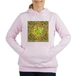 Optical Illusion Sphere - Yellow Women's Hooded Sw