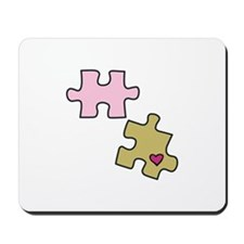 Piece with Heart Mousepad