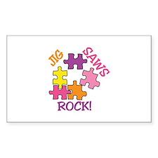 Jigsaws Rock! Decal