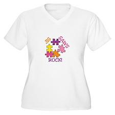 Jigsaws Rock! Plus Size T-Shirt