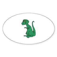 Old Dinosaur Oval Decal