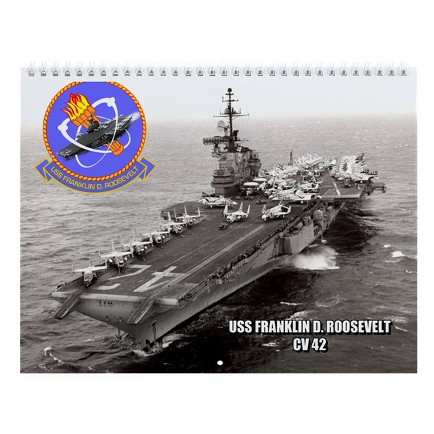 Uss Franklin D Roosevelt Cv 42 Wall Calendar By Navy Logos