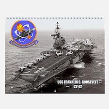 Uss Franklin D. Roosevelt Cv-42 Wall Calendar