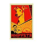 Whippets of Mass Destruction Mini Poster Print