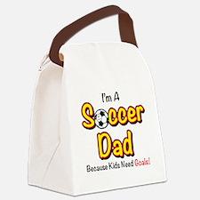 Cute Soccer dad Canvas Lunch Bag