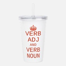 CUSTOM TEXT Keep Calm Acrylic Double-wall Tumbler