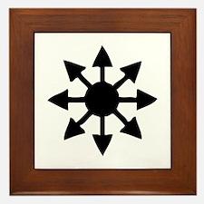 Chaos Symbol Framed Tile