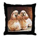 Cocker Spaniels Throw Pillow