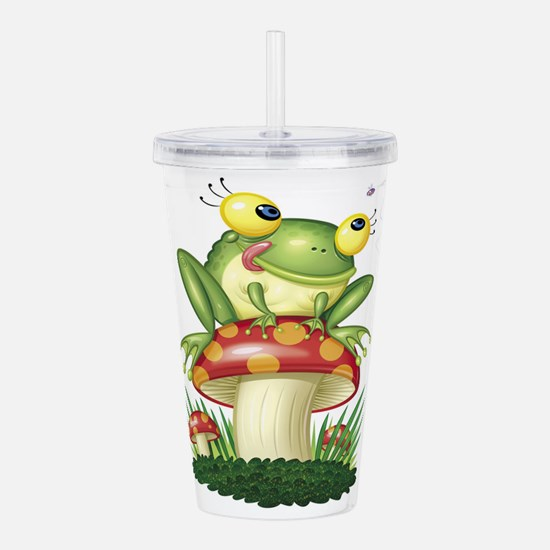 Frog Toad stool Acrylic Double-wall Tumbler
