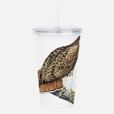 red tailed hawk Acrylic Double-wall Tumbler